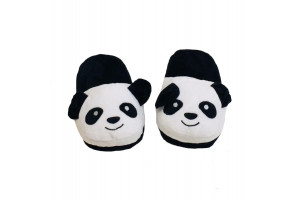 Тапочки чёрная панда